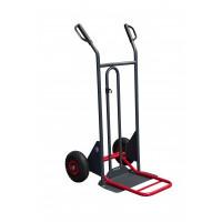 Diable à poignées à garde bavette repliable roues gonflées - DBA 350 kg  - 810302121