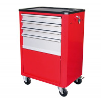 SORI - Servante d'Atelier 4 tiroirs + 1 soute avec porte - 6410