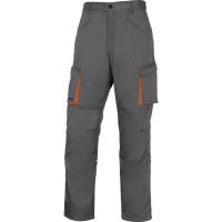 PANTALON DE TRAVAIL MACH 2 EN POLYESTER/COTON GRIS ORANGE DELTA PLUS-M2PW2GR