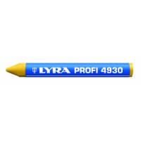 Craie de marquage à la cire jaune en étui de 12 PROFI 4930 LYRA-4930007