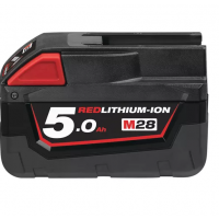 BATTERIE MILWAUKEE M28 RED LITHIUM 5.0 AH 28V LI-ION -4932430484 (Chargeurs et batteries)