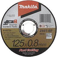 Disque à tronçonner métal et inox à moyeu plat Ø 125 mm MAKITA - B-45733