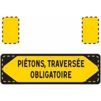 PANNEAU PPO NADIA SIGNALISATION PIETONS TRAVERSEE OBLIGATOIR1000X300 - 201508