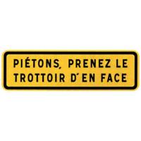 PANNEAU JH PIETONS NADIA SIGNALISATION ..TROTTOIR EN FACE T1 - 201507