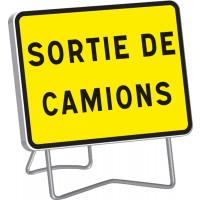 """Panneau KC1 """" SORTIE DE CAMIONS """" classe T1 + PIED - SOFOP TALIAPLAST - 525614"""