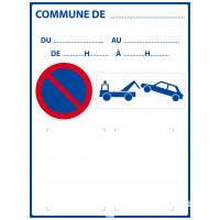 Panneau d'affichage Arrêté municipal  600 x 800 mm SOFOP TALIAPLAST - 620014