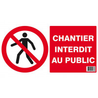 CHANTIER INTERDIT AU PUBLIC 330x200mm (PP ALVEOLAIRE) SOFOP TALIAPLAST - 621283