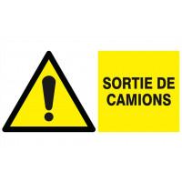 DANGER SORTIE DE CAMION 330x200mm SOFOP TALIAPLAST - 621319
