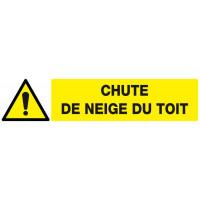 DANGER CHUTE DE NEIGE DU TOIT 330x75mm SOFOP TALIAPLAST - 625320