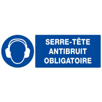 SERRE-TETE ANTIBRUIT OBLIGATOIRE 330X120mm SOFOP TALIAPLAST - 626509