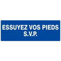 ESSUYEZ VOS PIEDS S.V.P 330x120mm SOFOP TALIAPLAST - 626617
