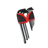 Râtelier de 9 clés mâles 6 pans à tête sphérique en mm SAM OUTILLAGE - 67AR9AZ
