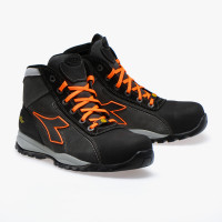 Chaussures de sécurité haute ASPHALTE/ORANGE S3 SRA HRO ESD Glove Tech High Pro - DIADORA- 173527C83210