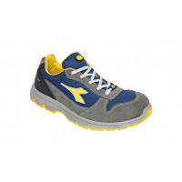 Chaussure de sécurité basse DIADORA low RUN II Textile S3 ESD SRC GRIS CHATEAU/BLEU ENSEIGNE -175305C4906