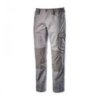 Pantalon de travail gris avec genouillères ROCK POLY DIADORA - 160303750700