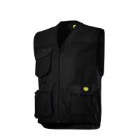 Gilet 3 poches Noir MOVER POLY DIADORA - 160302800130