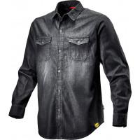 Chemise en tissu denim avec boutons à pression shirt denim DIADORA - 171663C6208