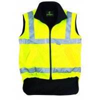 EUROPROTECTION-HI-WAY GILET REVERSIBLE-70500-Jaune Fluo-XXXL