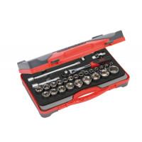 """Coffret de douilles 6 pans 1/2"""" et accessoires 28 outils SAM OUTILLAGE-75-SH28Z"""