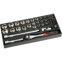 """Plateau MODULOSAM 1/2"""" de 45 outils en mm SAM OUTILLAGE -75-SH45PM"""