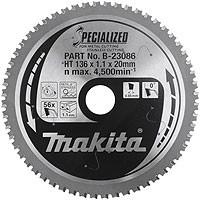 Lames carbures ''Specialized'' Inox et Métal, pour scies circulaires à métaux à batterie MAKITA-B-23086 (Accessoires Scies circulaires)