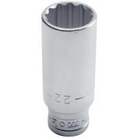 DOUILLE LONGUE 1/2'' 12 PANS 18MM MOB - 9227180001