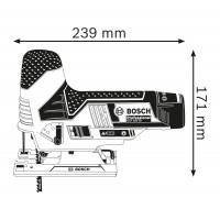 Scie sauteuse gst 12v-70 solo carton BOSCH - 06015A1001