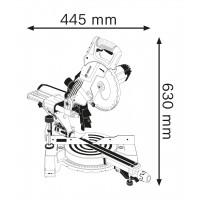 Scie radiale gcm 800 sj carton BOSCH - 0601B19000