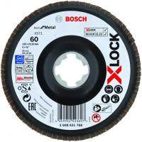 Xlock plat. lamelle bombé plas. 125 g60 BOSCH - 2608621768