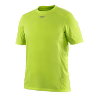 T-Shirt Respirant été (S) - T-Shirt Manches courtes, Jaune fluo MILWAUKEE - 4933464111