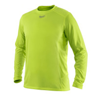 T-Shirt Respirant été (2XL) - T-Shirt Manches longues, Jaune fluo MILWAUKEE - 4933464201