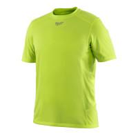 T-Shirt Respirant été (M) - T-Shirt Manches courtes, Jaune fluo MILWAUKEE - 4933464206