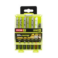Coffret 10 lames spéciales scie sauteuse sans fil ONE+ bois - métal - plastique - granit - carrelage RYOBI RAK10JSBMP - 5132002812