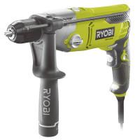 Perceuse à percussion 1 200 W - 2 vitesses - mandrin 13 mm métal blocage d'arbre automatique - LED - livrée en mallette RYOBI RPD1200K  - 5133002067