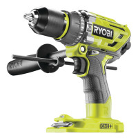 Perceuse-visseuse à percussion BRUSHLESS moteur sans charbons 18V - 85 Nm - 410-1800 tr/min - mandrin métal 13 mm- livrée avec une poignée auxiliaire RYOBI  R18PD7-0 - 5133003941