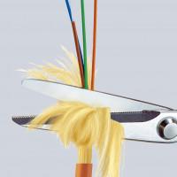 Ciseaux pour fibres en kevlar® 160mm KNIPEX - 95 03 160 SB