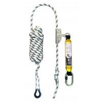 Antichute mobile sur corde d.12 mm long. 20 m avec absorbeur LEVAC - 3803A200