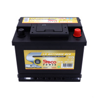 Batterie 12V 60Ah 600A 242x175x190 Gamme Jaune EFB STECOPOWER - 112