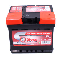 Batterie 12V 55Ah 510A 207x175x175 Gamme Rouge STECO PREMIER STECOPOWER - 201