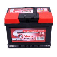 Batterie 12V 62Ah 620A 242x175x175 Gamme Rouge STECO PREMIER STECOPOWER - 203