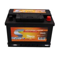 Batterie 80 Ah (20h) - 85 Ah (100h) 277x175x190 Gamme STECO Décharge Lente STECOPOWER - 206DL