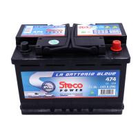 Batterie 12V 70Ah 640A 278x175x190 Gamme Bleue STECOPOWER - 474