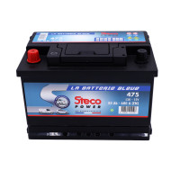 Batterie 12V 80Ah 680A 278x175x190 Gamme Bleue STECOPOWER - 475