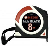 Métre à ruban Triple Black Nylon coated 8 x 25 MEDID - 7258