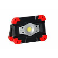 Projecteur portable de chantier compact à LED 20W - sur batterie (Li-Ion) - livré avec chargeur 230V et cordon autombile 12V - interrupteur marche-arrêt - temps de charge : 3-4 h - temps de travail 3h à 100% / 6h à 50% Sorties USB et micro USB  -CEBA-PBC2