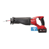 SCIE SABRE MILWAUKEE FUEL ONE KEY 18V 5,0 AH BLUETOOTH LIVRÉE AVEC 2 BATTERIES ET CHARGEUR M18 ONESX-502X - 4933451666