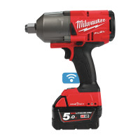 BOULONNEUSE À CHOCS MILWAUKEE FUEL ONE KEY, CARRÉ 3/4'',18V, 5,0 AH, 1 423 NM, 3 MODES, 1 MODE DE FINITION, BLUETOOTH M18 ONEFHIWF34-502X - 4933459730