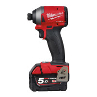 VISSEUSE À CHOCS COMPACTE MILWAUKEE HEX 1/4 FUEL GEN3, 18V, 5,0AH, 4 MODES, 119/176/226NM + 1 MODE DE FINITION M18 FID2-502X - 4933464088