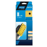 10 Patins avec 10 trous velcro 115*230 mm NORTON Grain 60- 77696089217