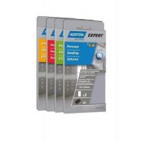 5 recharges anti-encrassantes auto-agrippantes non perforées pour plâtre NORTON 70*125 Grain 120 -66623307244